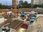 Baustelle München mit Bodenplatte