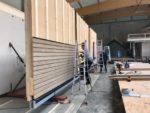 Holz Beton Wand